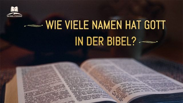 Namen Gottes Bibel