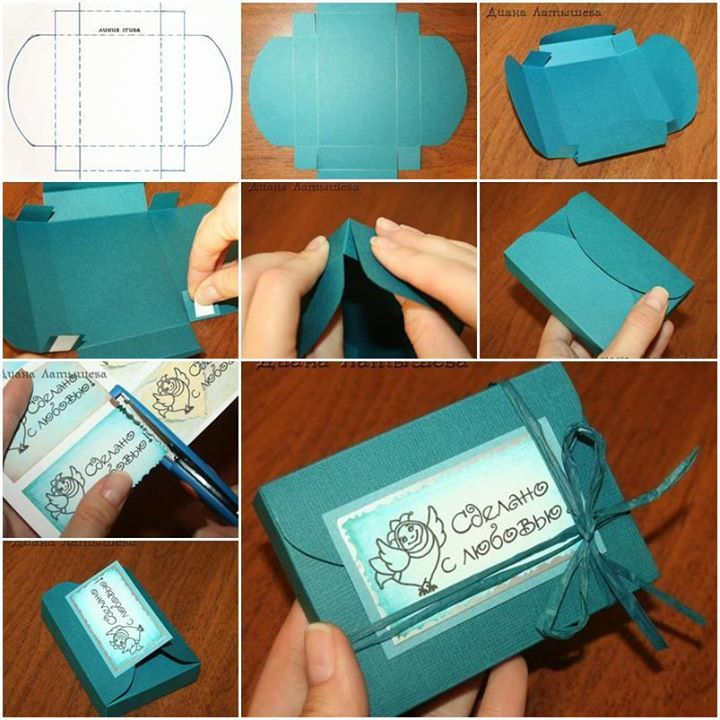 How to diy simple nice gift box beautiful bags and diy - How to make beautiful gift box ...