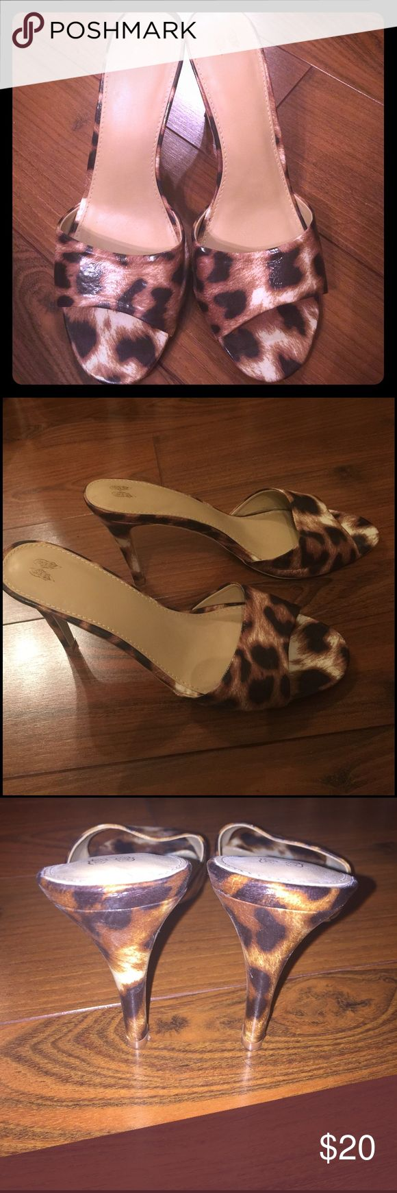 Victoria's Secret Animal Print High Heels I only attempted to wear these twice as they are a little too narrow for me! Size on the bottom says 8B but I'm not sure what the B stands for. I bought them online from Victorias Secret and wanted them to fit since they're so cute! Hopefully someone else can get their use out of them :) Victoria's Secret Shoes Heels