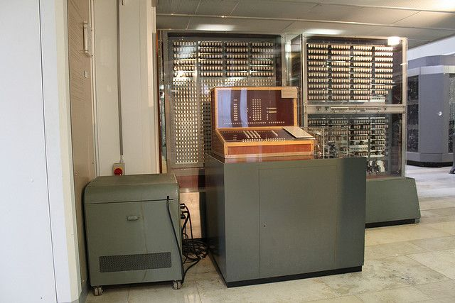 Konrad Zuse's Zuse Z3, the world's first working programmable, fully automatic digital computer. Developed in Berlin, Germany.  CC BY SA floheinstein