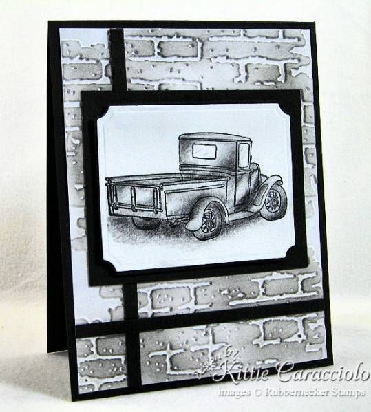 Truck in Pencil by kittie747 - Cards and Paper Crafts at Splitcoaststampers