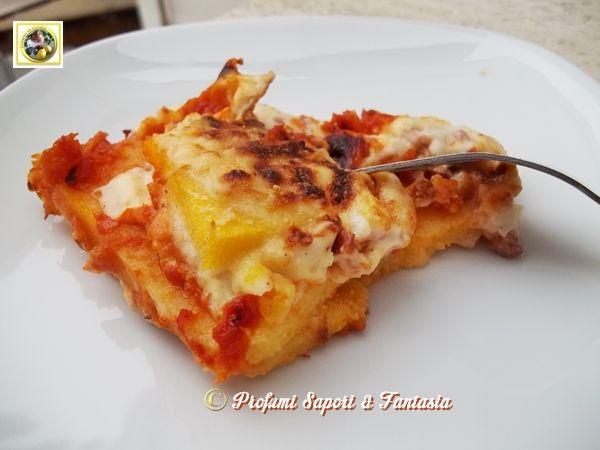 Lasagne di polenta ai formaggi e prosciutto  Blog Profumi Sapori  Fantasia