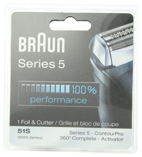 Braun Series 5 Combi 51s Foil And Cutter Replacement Pack (Formerly 8000 360 Complete Or Activator) | Multicityhealth.com  List Price: $43.99 Discount: $21.10 Sale Price: $22.89