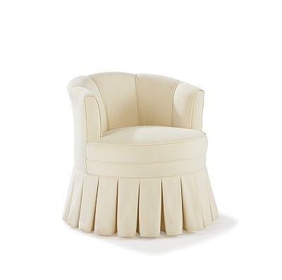 Swivel Boudoir Chair By Raymond Waites Couture