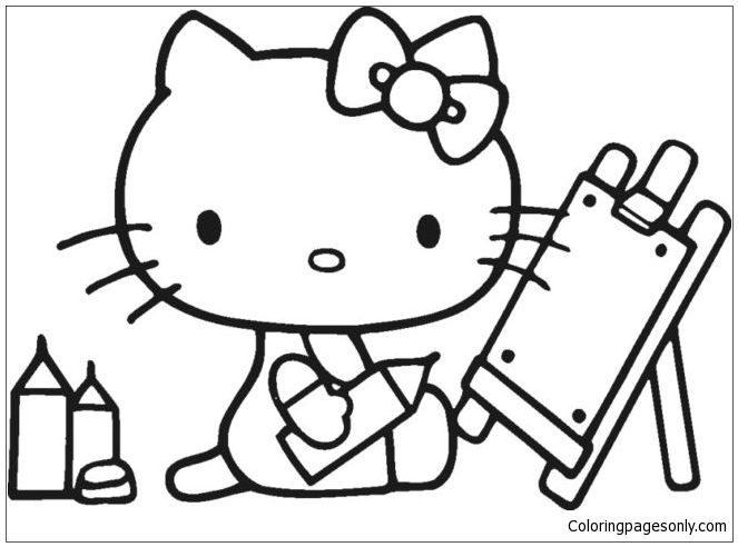 Hello Kitty Back To School 1 Coloring Page Hello Kitty Coloring Hello Kitty Colouring Pages Kitty Coloring