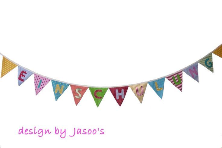 Wimpelkette Einschulung von Jasoo's auf DaWanda.com