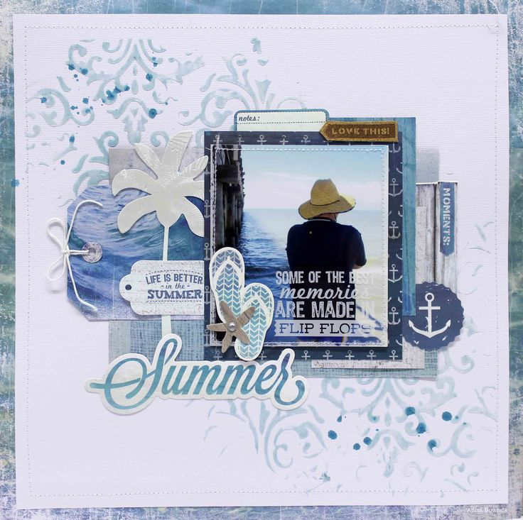 Summer layout for kaisercraft sandy toes collection