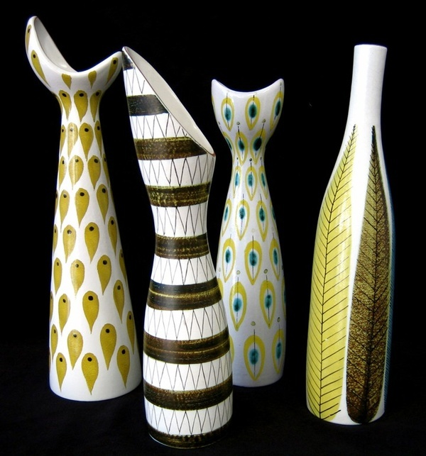 Stig Lindberg.  Scandinavian Modernism.  Folk inspired decorative designs and asymmetric forms.