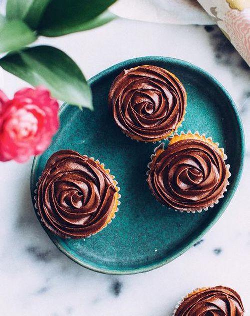 Les cupcakes au chocolat sur Foodess
