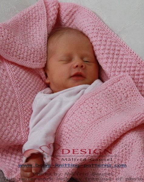 easy baby blanket to knit