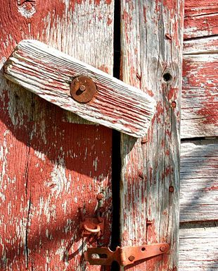 wooden locks.........on old barns and doors in country farm house of my Grandparents.