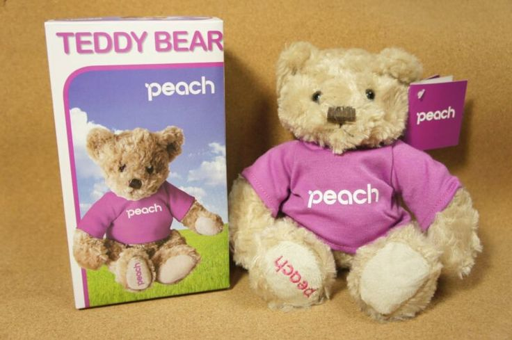 Peach Airlines in flight sales Limited Original Teddy Bear from JAPAN