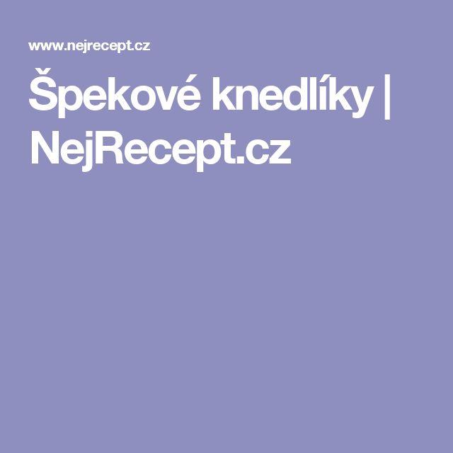 Špekové knedlíky | NejRecept.cz
