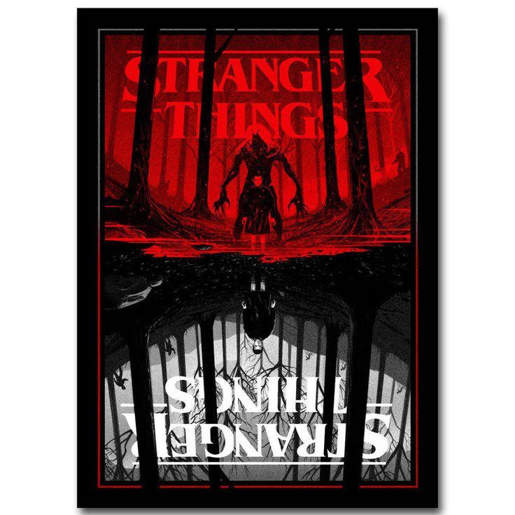 Art Stranger Things Hot TV Series Print Canvas Fabric Poster 1287 #PopArt