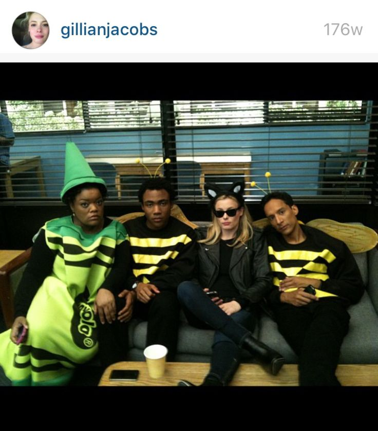 Behind the scenes of Community from Gillian Jacob's Instagram