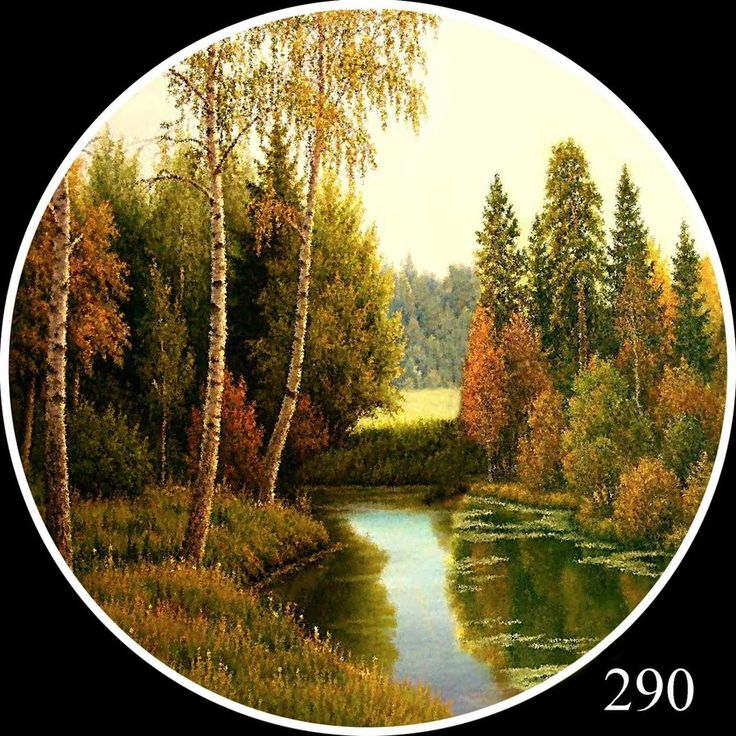круглые пейзажи - Схемы вышивки - ПенязьЕлена - Авторы - Портал «Вышивка крестом»