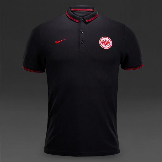 Nike League SGE Frankfurt Authentic Polo - Black-University Red