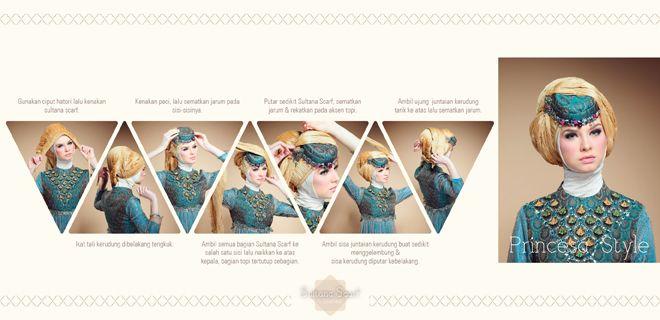 Hijab Tutorial Untuk Acara Pesta, Princesa Style