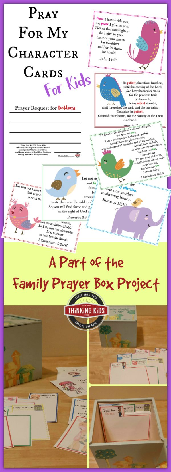 Pray for My Character Cards for Kids: A part of the Family Prayer Box Project
