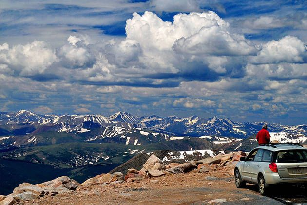 Mount Evens Scenic Byway (60mi west of Denver) - The view from the top of Mt. Evans