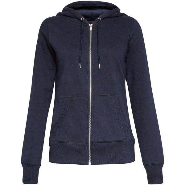 New Look Navy Basic Zip Up Hoodie ($22) ❤ liked on Polyvore featuring tops, hoodies, navy, hooded sweatshirt, long sleeve hoodie, hooded pullover, navy blue zip up hoodie and navy blue hoodies