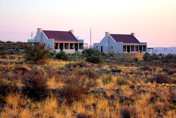 Karoo View Cottages with the lovely natural grasses in the foreground