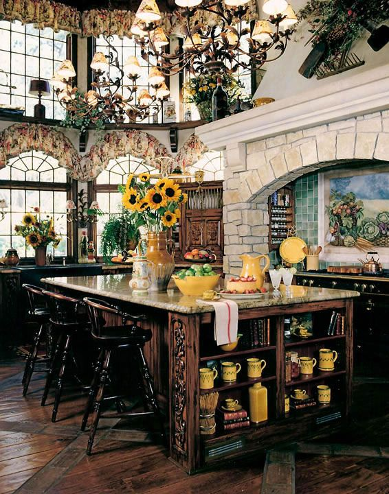 I love the splash of yellow @Ann Flanigan Marie V you could do cream and dark wood to match the buffet and hutch, and add splashes of sunflower yellow.