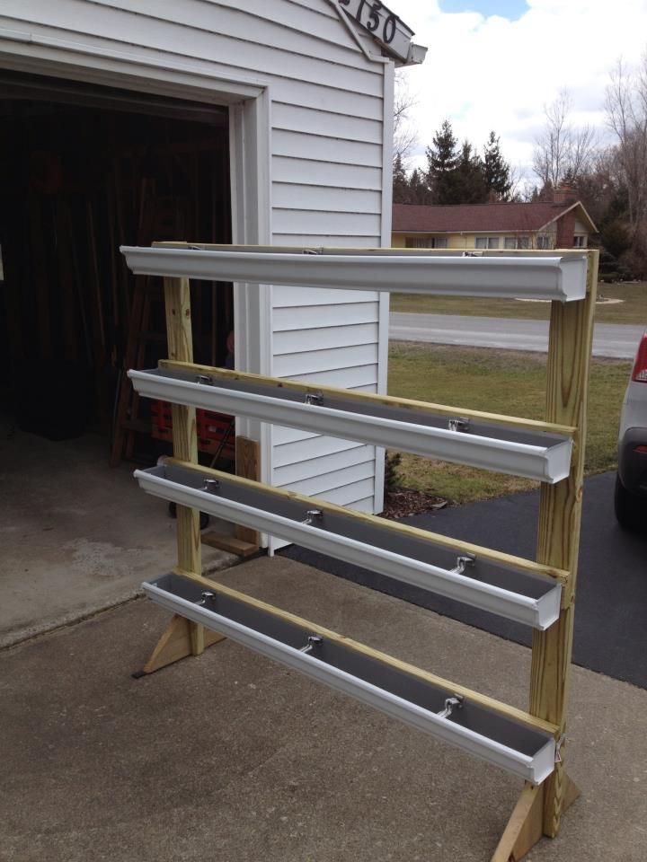 A free standing gutter garden that can be placed most anywhere.