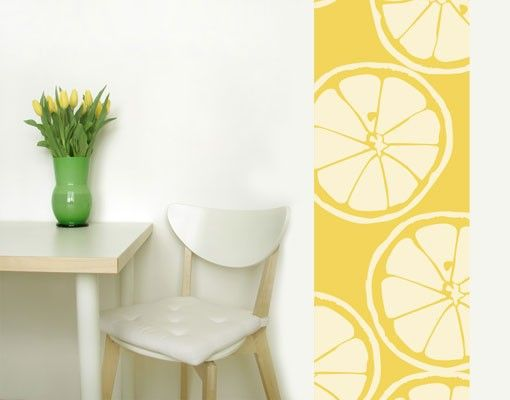 Selbstklebende Tapete Grau : Selbstklebende #Tapete – Fototapete No.UL999 #Zitronenscheibe #