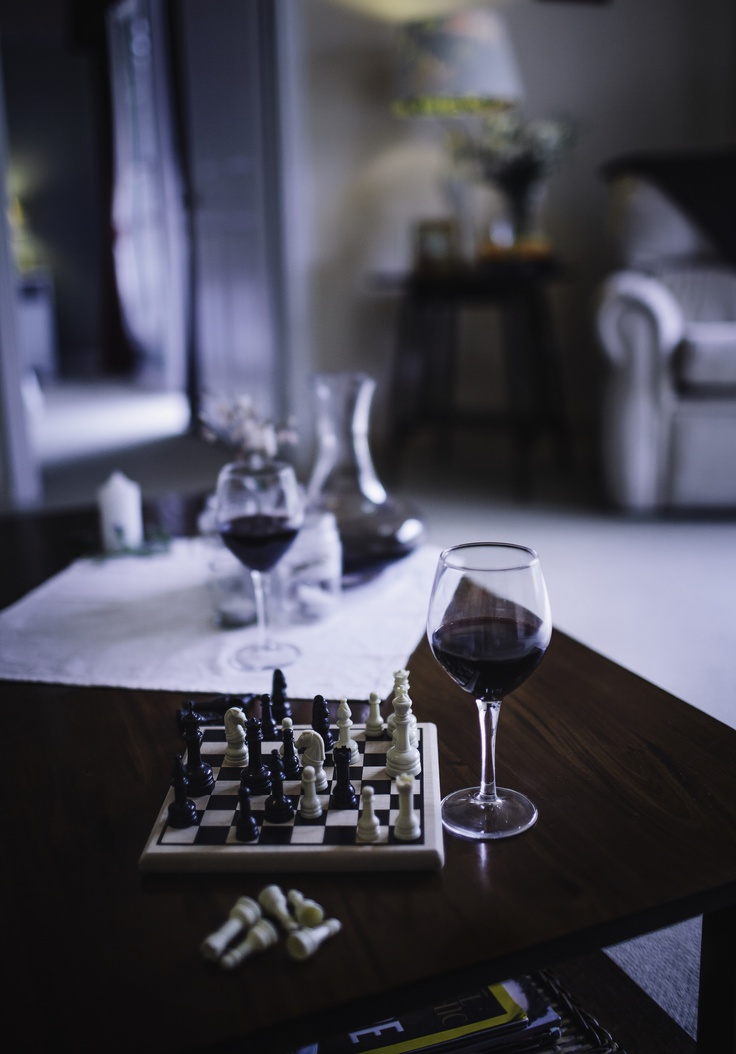Stanthorpe wine and a game of chess by the log fire - perfect