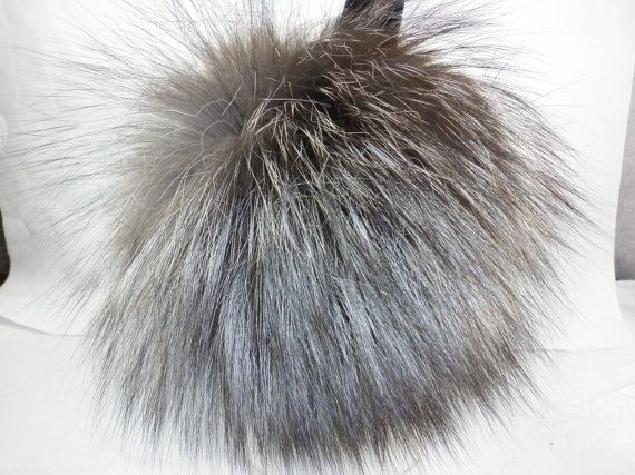Silver Fox Fur Earmuffs new made in usa by furz11 on Etsy