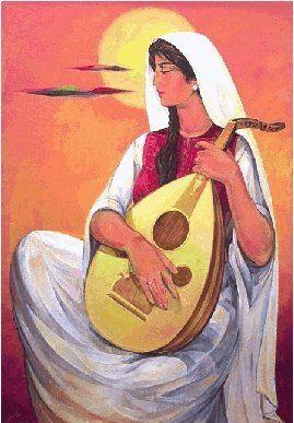 Palestinian woman by Ismail Shammout