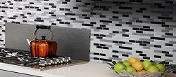 These are peel and stick back back splash tiles that are also removable! Perfect for an apartment where you cant make major changes!