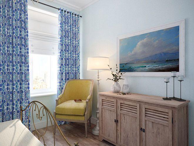 Спальня. Интерьер трехкомнатной квартиры в средиземноморском стиле на ул.Типанова