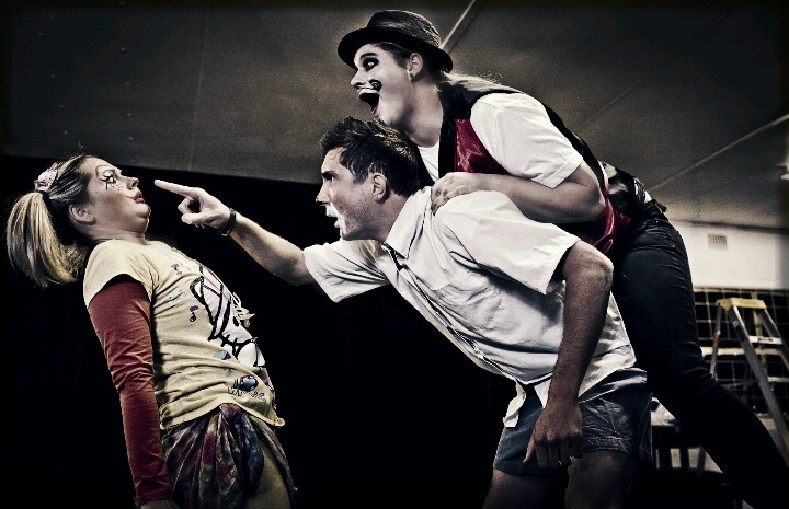 Louise Louw, Nico Horn and Grethe Horn in Fools & Clowns 2012