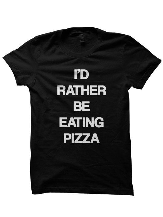 Pizza T Shirt - Pizza Top - Funny T Shirt Women - Grunge 90s Punk Goth Cute Clothes Clothing for Teen Girls Boys Id Rather Be Eating Pizza on Etsy, $16.00