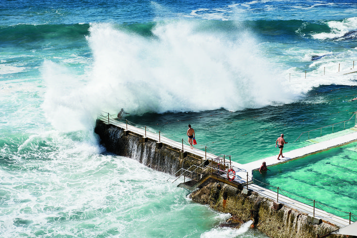 A true wave pool at Bondi in #Australia.