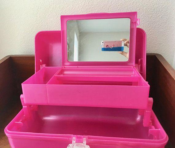 Vintage 90s Hot Pink Caboodle Girls Makeup Case Pi K Hot Pink