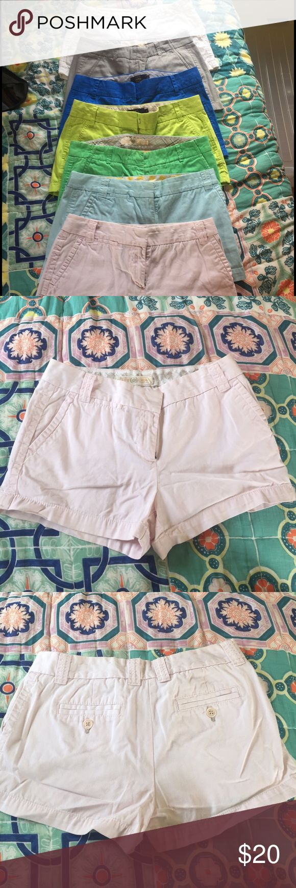 J. Crew light pink shorts Chino shorts in light pink. Great condition - perfect summer shorts to pair with any top. Many other colors for sale. J. Crew Shorts