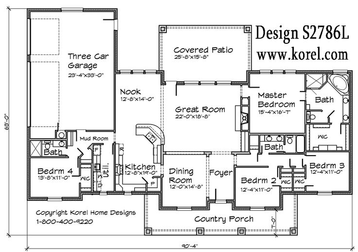 44 best house plans images on pinterest floor plans Texas ranch house plans with porches