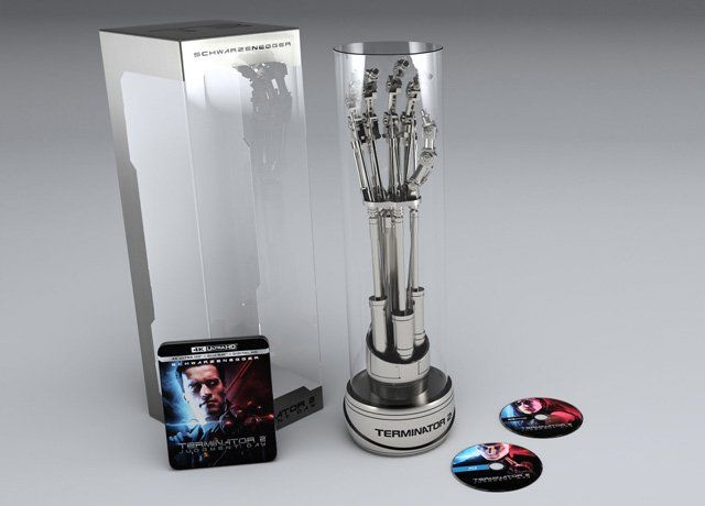 Terminator 2 4K Blu-ray Arriving in EndoArm Box Set #SuperHeroAnimateMovies #arriving #endoarm #terminator