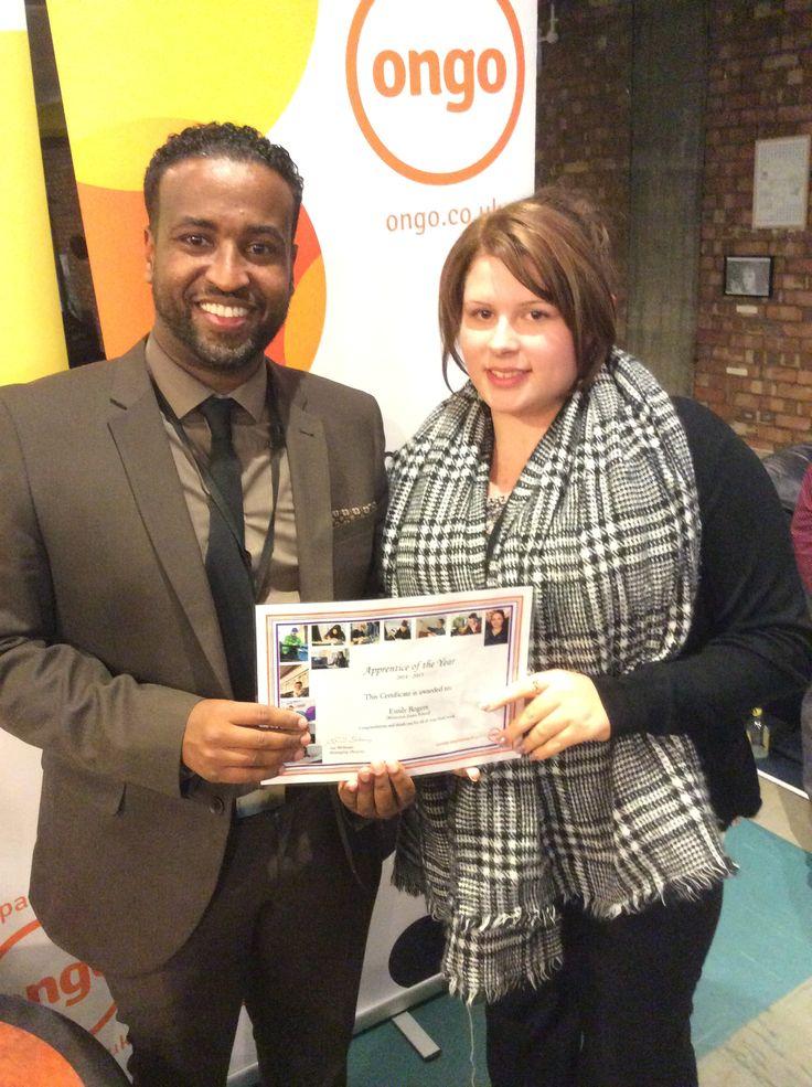 apprentice of the year - Emily Rogers,Teaching Assistant Winterton Junior School