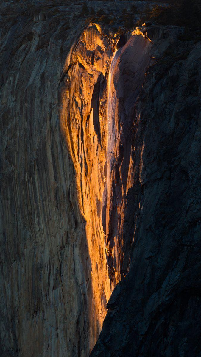 Horsetail Falls Yosemite  It looks like a heart!