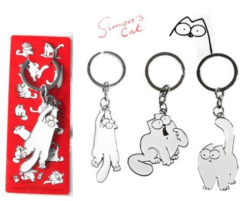 Simon's Cat Avaimenperät metallia, 3 erilaista - PetNetstore 5,90€