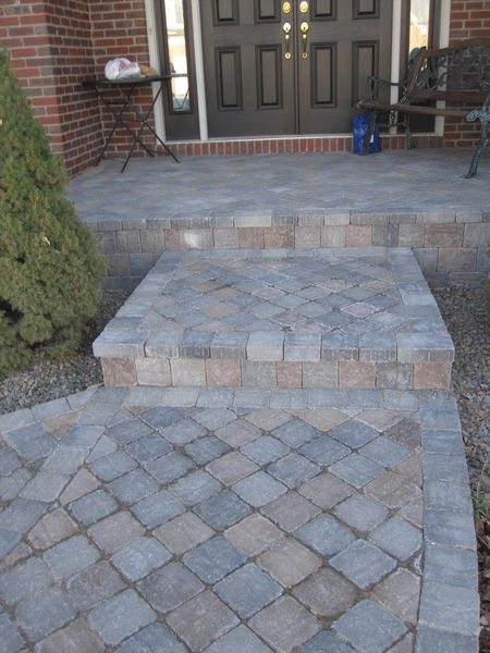 Square Pavers Home Landscaping Patio Design Brick Patios