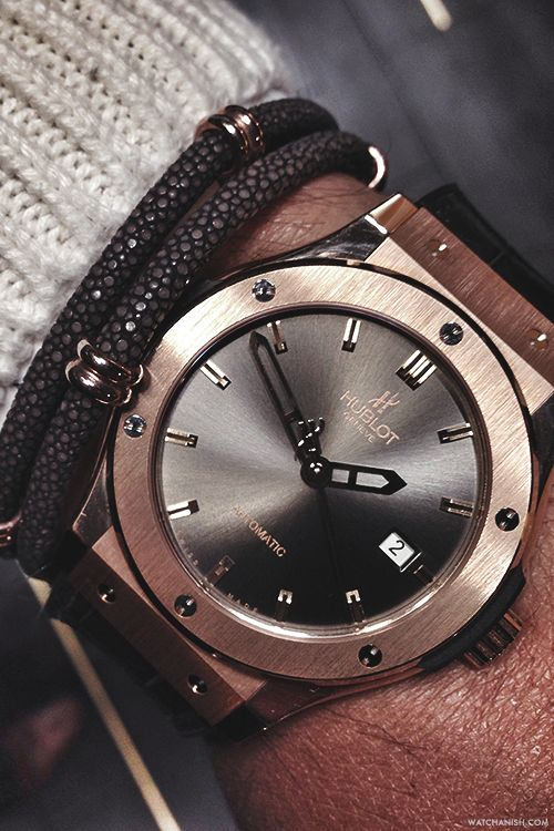 watchanish:  Hublot Classic Fusion 42mm x Sting HD bracelet. Men's Jewellery #mensfashion #mensjewellery www.urban-male.com