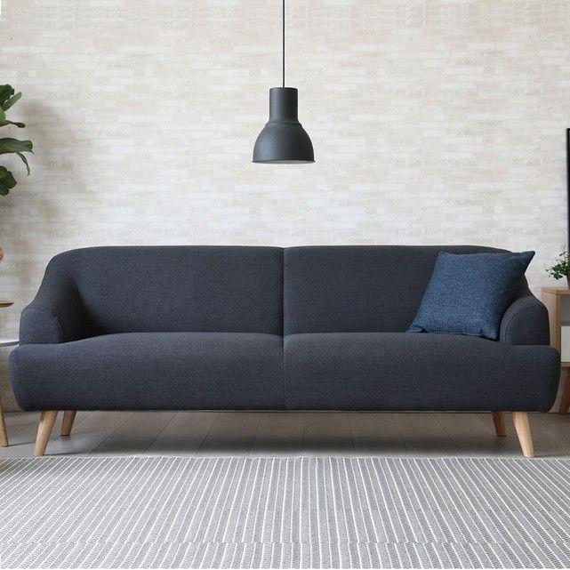 Canape Scandinave 3 Places Klein Gris Fonce Concept Usine