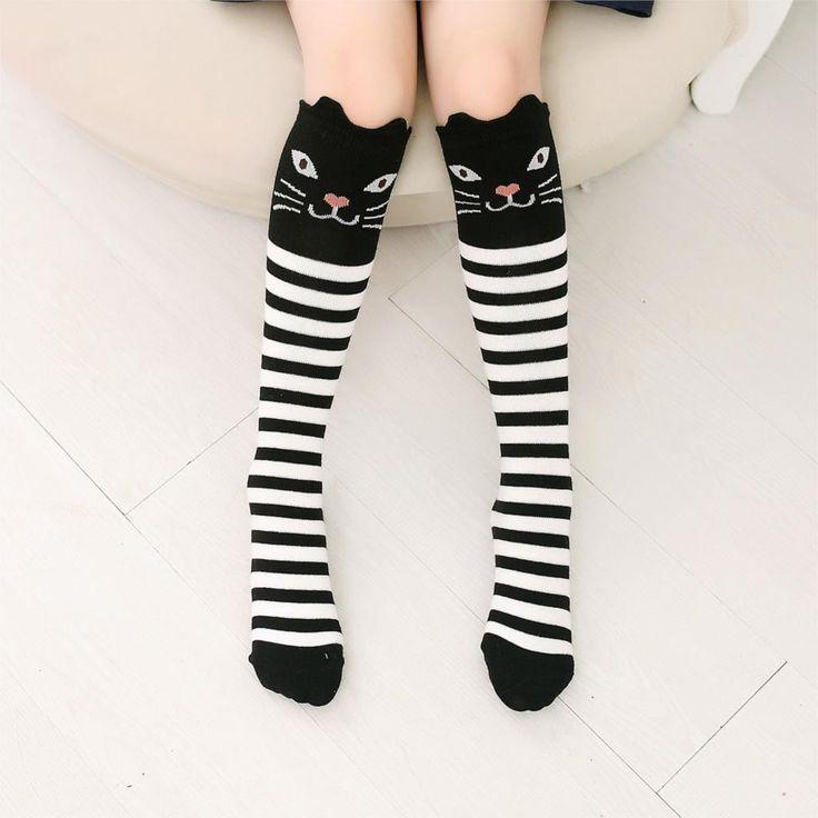 2016 Cartoon Cute Children Sock Print Animal Cotton Baby Kid Socks Knee High Long Socks For Toddler Girl Clothing Accessories
