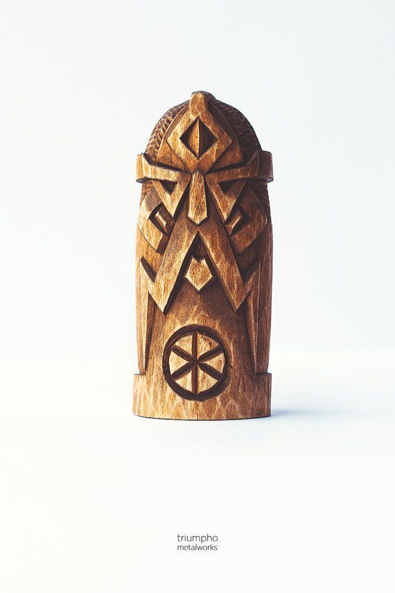 Wooden figurine - Perun. Hand-carved wooden statue Perun / Piorun. A chic Scandinavian Gift for him / Gift for her