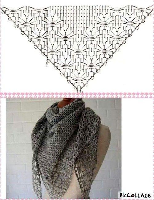 72 mejores imágenes sobre bufanda en Pinterest | Patrones, Tejido y ...
